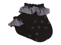 Meia Micro Costura Preta - Puket