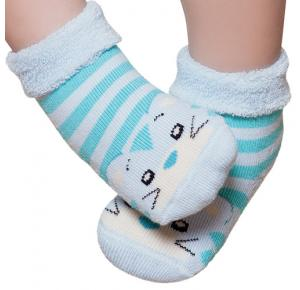 Meia Baby Confort Desenhada Azul - Puket