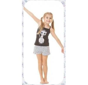 Short Doll Infantil Gatinho