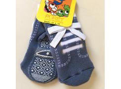Meia Baby Soquete Tênis Azul com antiderrapante